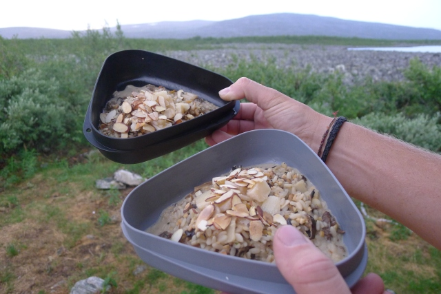 Mushroom Risotto with Almonds